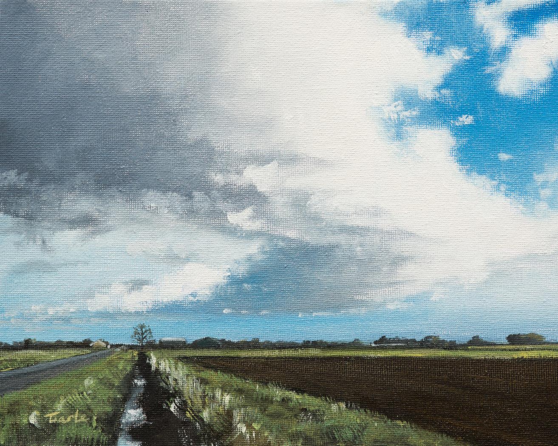 April Sky over Langtoft Fen - Nick Tearle Fenland Artist