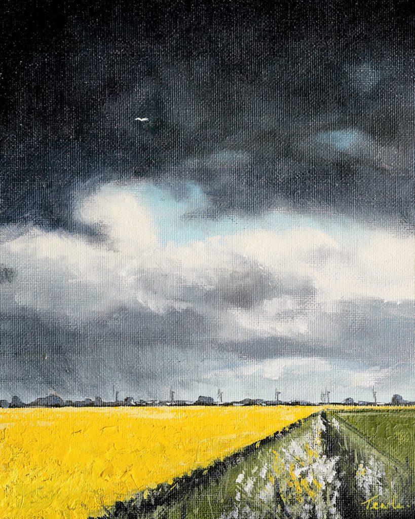 April on Langtoft Fen - Nick Tearle Fenland Artist