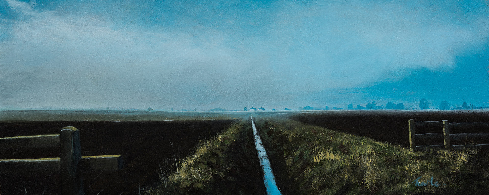 Ditch near Etton - Nick Tearle Fenland Artist