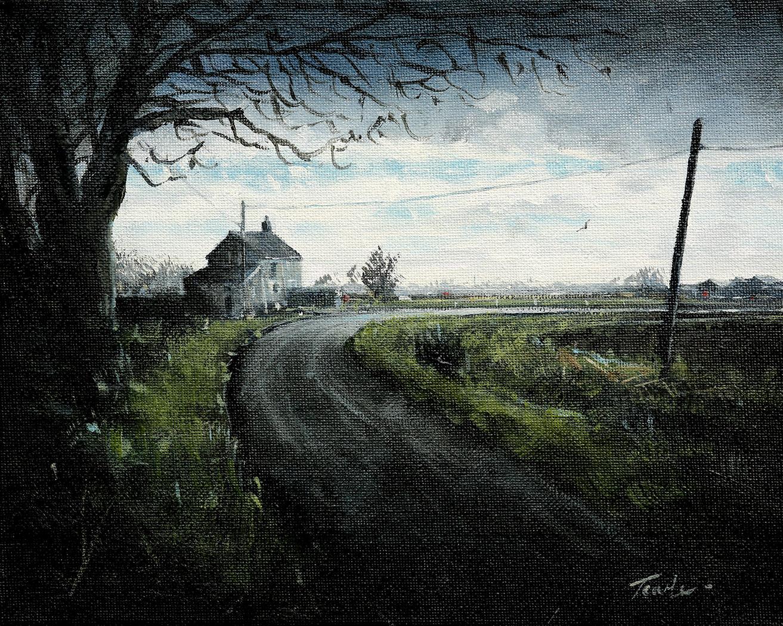 Drain near Moulton Chapel - Nick Tearle Fenland Artist