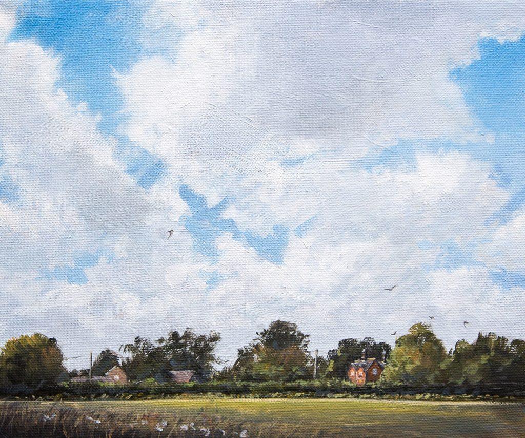 Fenland House near Langtoft - Nick Tearle Fenland Artist