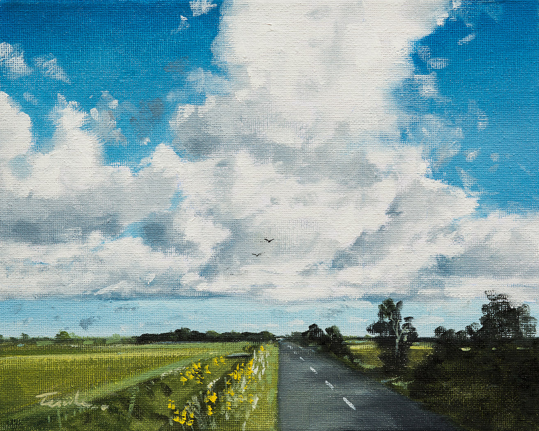 Fenland Sky over King Street - Nick Tearle Fenland Artist