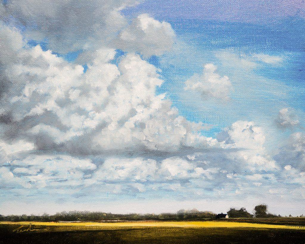 Fenland Sky over Maxey - Nick Tearle Fenland Artist