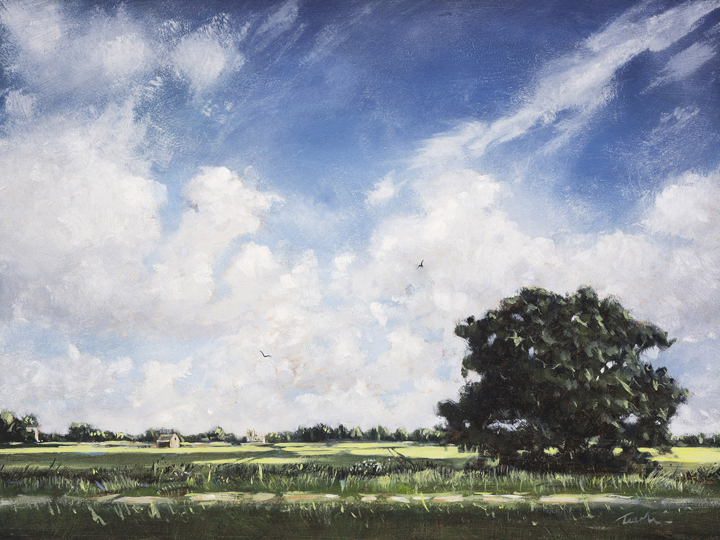 Fenland Sky over the Welland- Nick Tearle Fenland Artist
