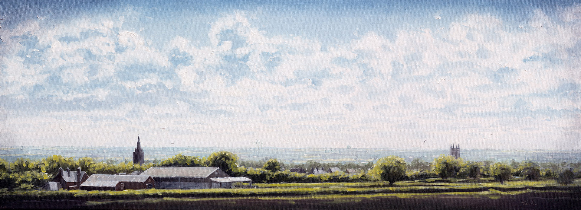 From Haconby over Morton to Crowland - Nick Tearle Fenland Artist