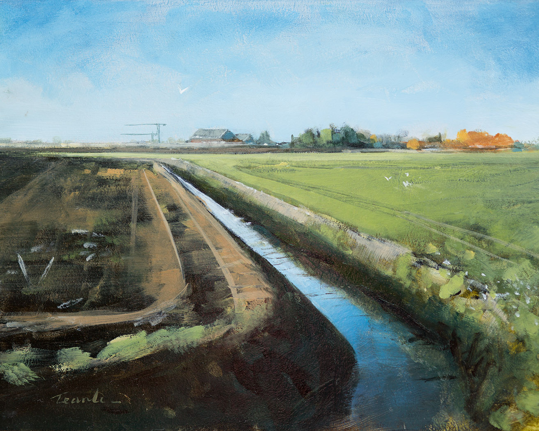 Narrow Drain - Nick Tearle Fenland Artist