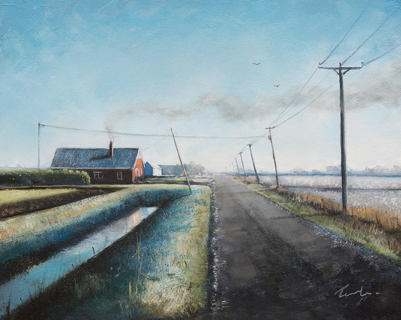 November on Kings Delph Drove - Nick Tearle Fenland Artist
