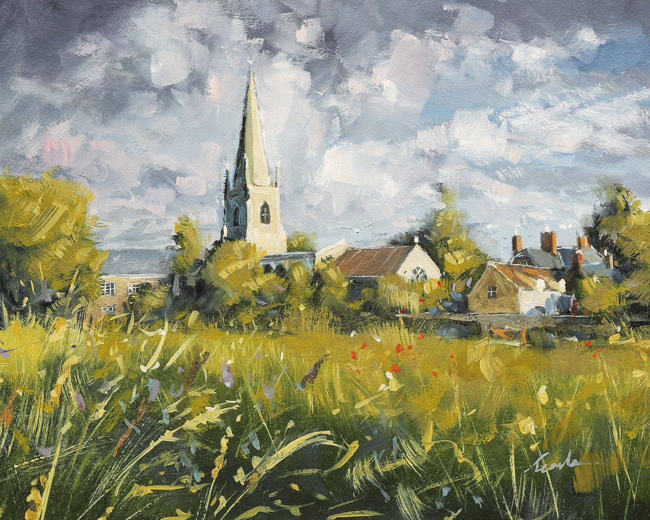 St. Andrews Church, West Deeping - Nick Tearle Fenland Artist