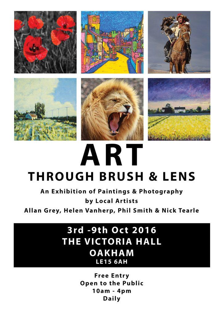 Nick Tearle Feland Artsit Exhibition Flyer Art Through Brush & Lens 2016